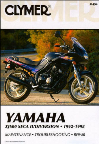 1992 1998 yamaha xj600 xj 600 seca ii clymer repair manual. Black Bedroom Furniture Sets. Home Design Ideas