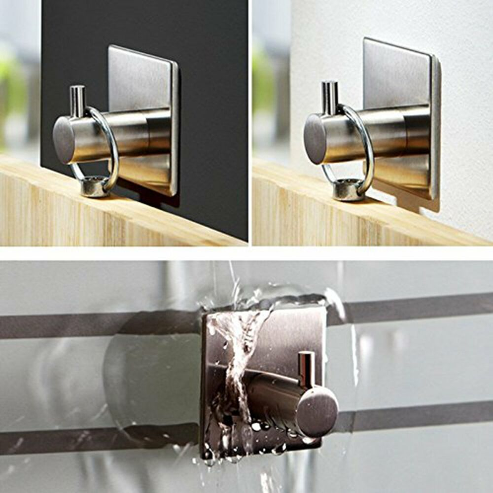 Kitchen Towel Hooks For Towels: Stainless Steel Towel Self Adhesive Stick Wall Hook Hanger