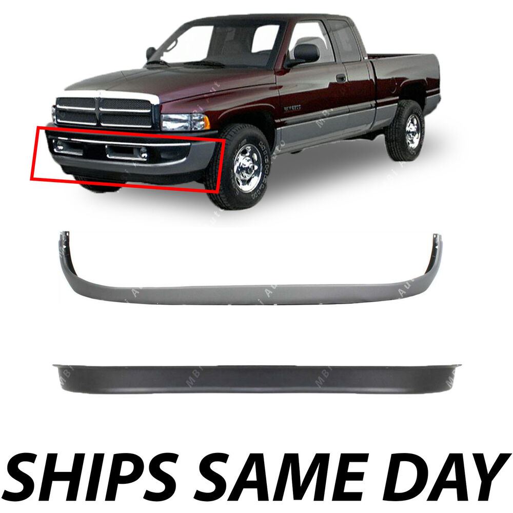 NEW Front Lower Bumper Valance Combo Kit For 1994-2001