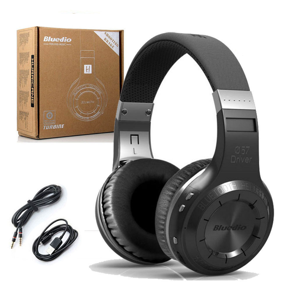 hurricane wireless bluetooth stereo headphone headset. Black Bedroom Furniture Sets. Home Design Ideas