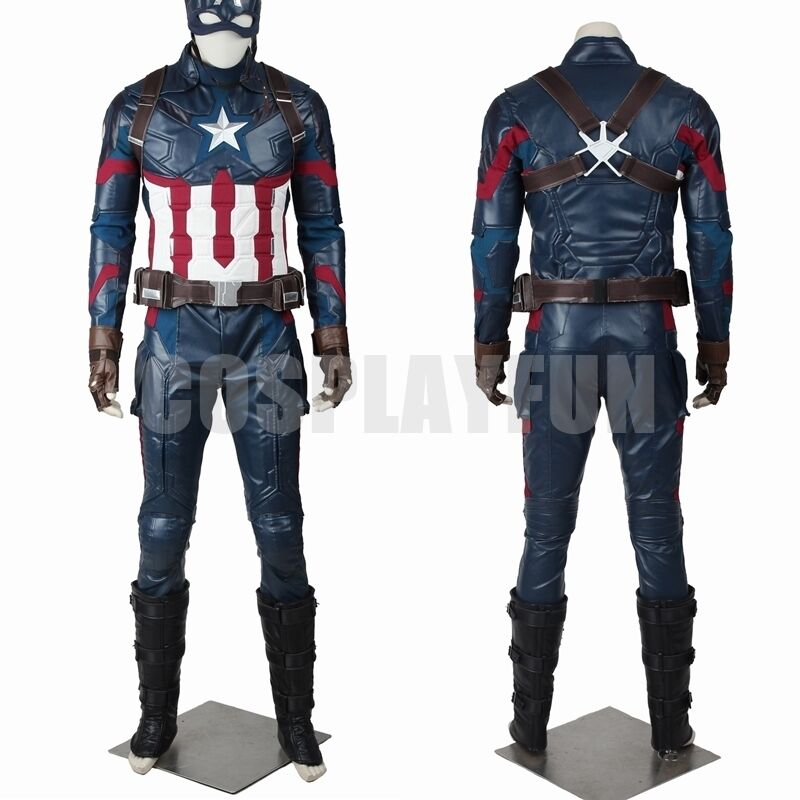 New Captain America 3 Civil War Steven Rogers Cosplay Costume Full Set | eBay