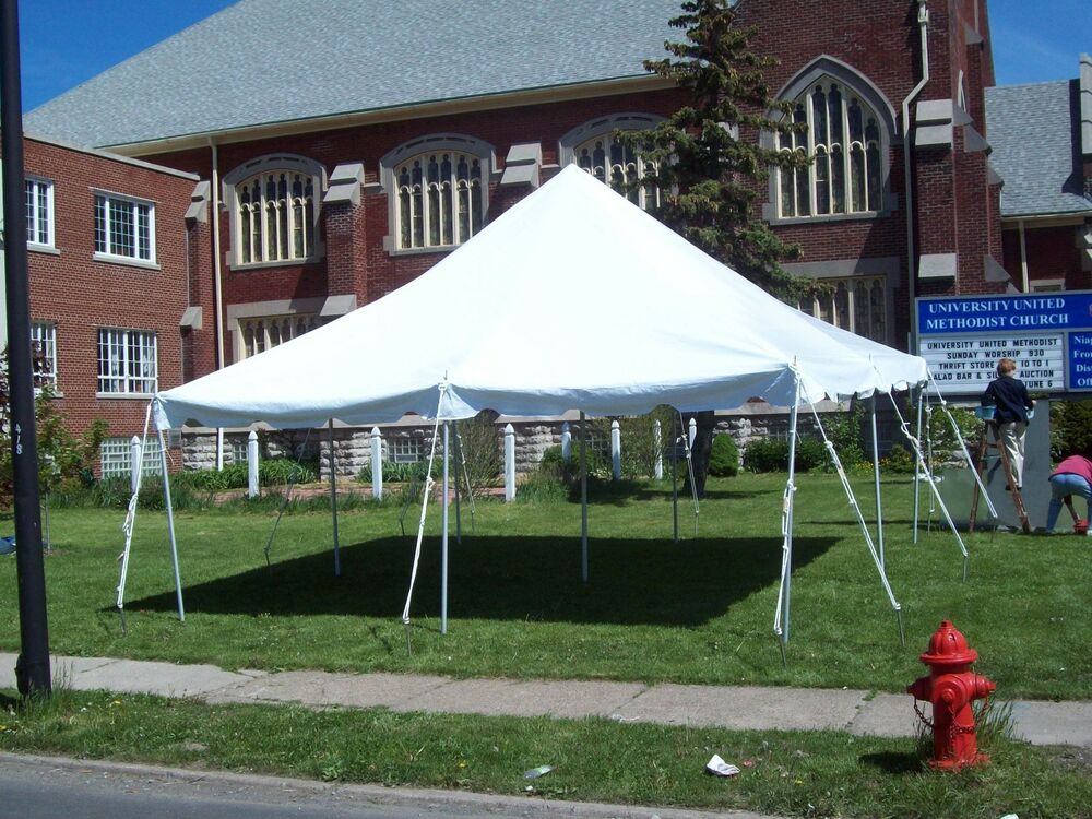 20 X 20 White Canopy Pole Tent Commercial Wedding Party