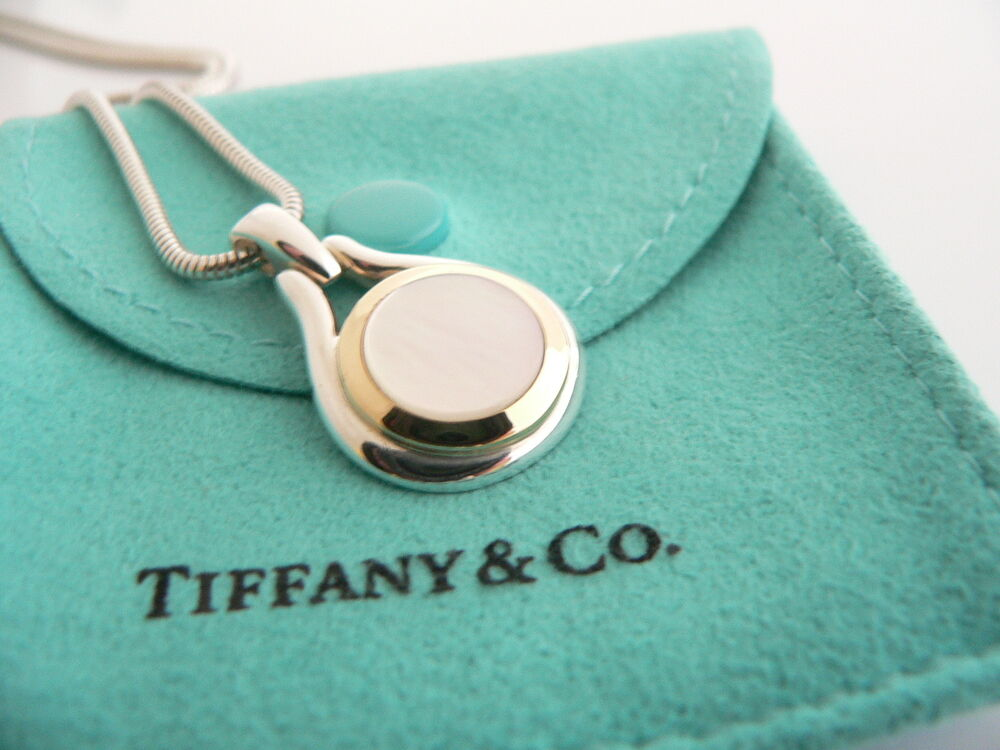 Tiffany co silver 18k gold mother of pearl necklace for New mom jewelry tiffany