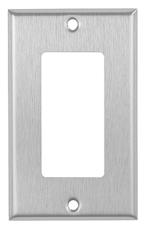 Decorator 1 Gang Brushed Stainless Steel Wall Plate Metal