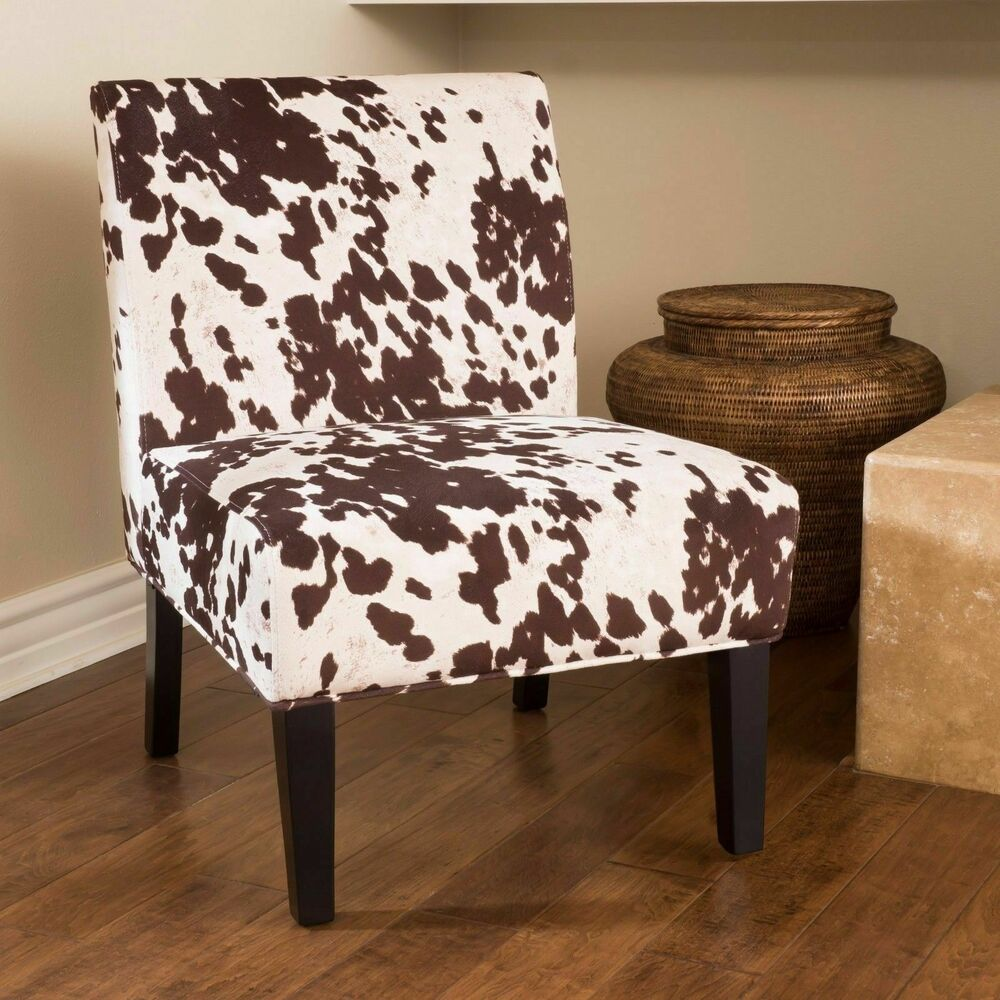 Kalee Cow Print Fabric Dining Chair 637162988343 Ebay