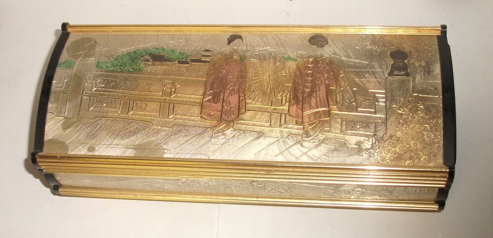 Rare large japanese geisha girls temple lady mate mixed for Girls large jewelry box