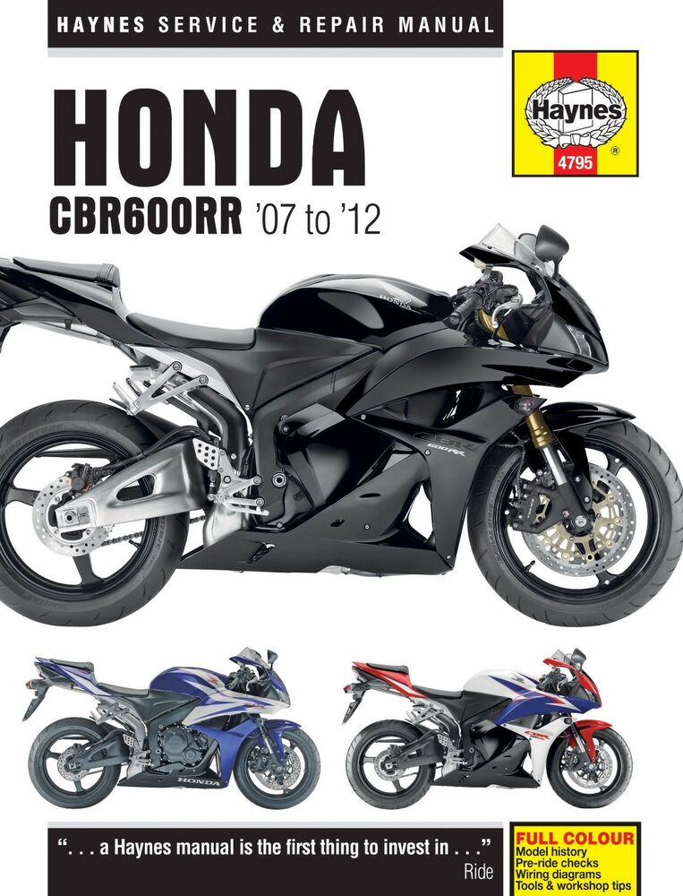 2007 2012 honda cbr600rr 600 rr cbr600 cbr 600rr haynes. Black Bedroom Furniture Sets. Home Design Ideas