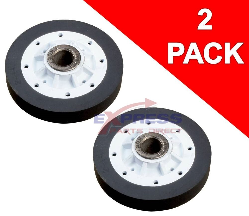 2 Pack 37001042 Kenmore Magic Chef Dryer Drum Support Roller Wheel Ap6008773 Ebay