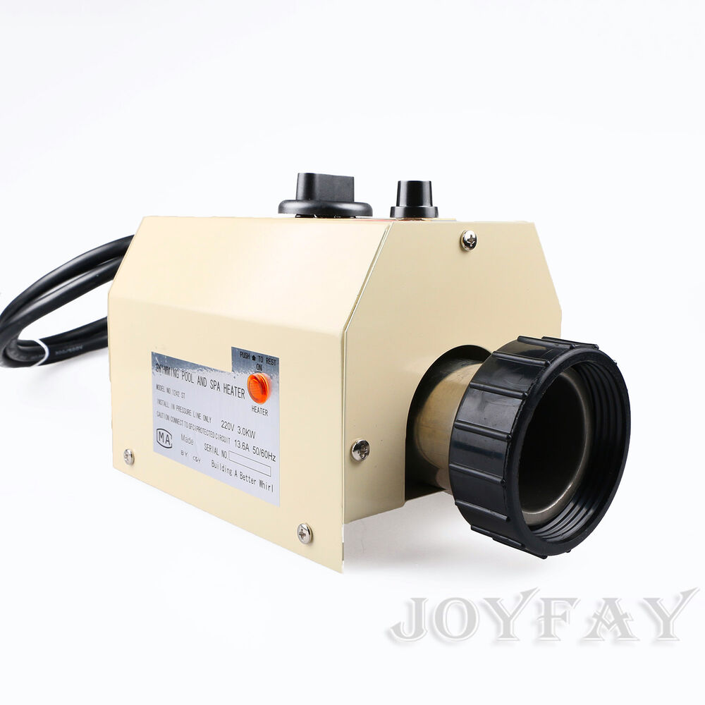 3kw 220v swimming pool spa hot tub electric water heater thermostat ebay for Intex 3kw electric swimming pool heater