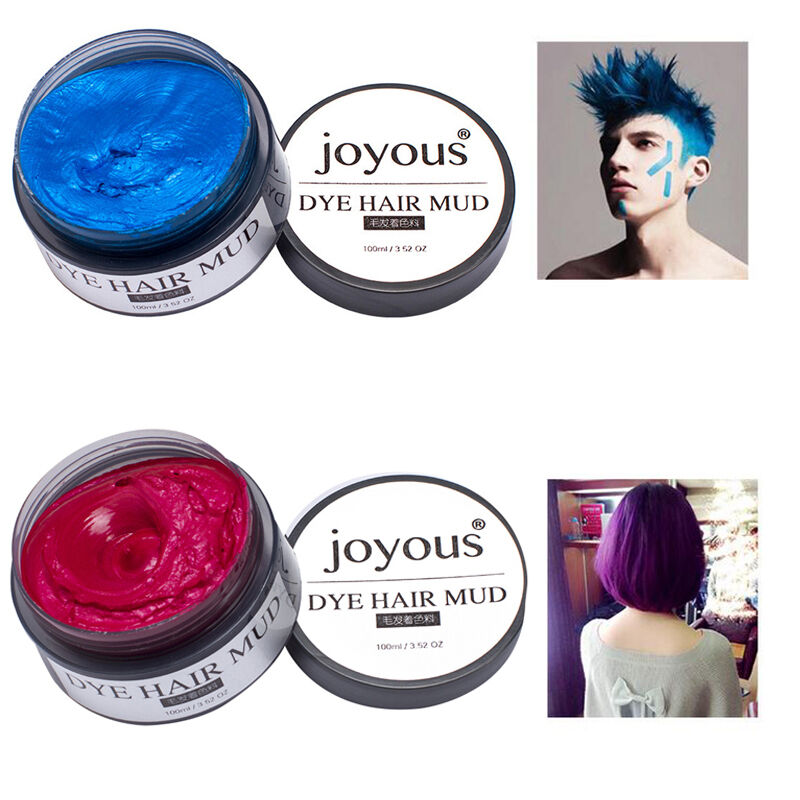 100ml Temporary Hair Dye Cream Wax Mud Hair Fashion Modeling 5 Colors  EBay