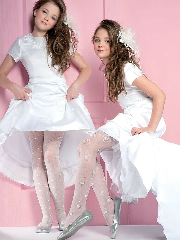 Girls White Party Shoes