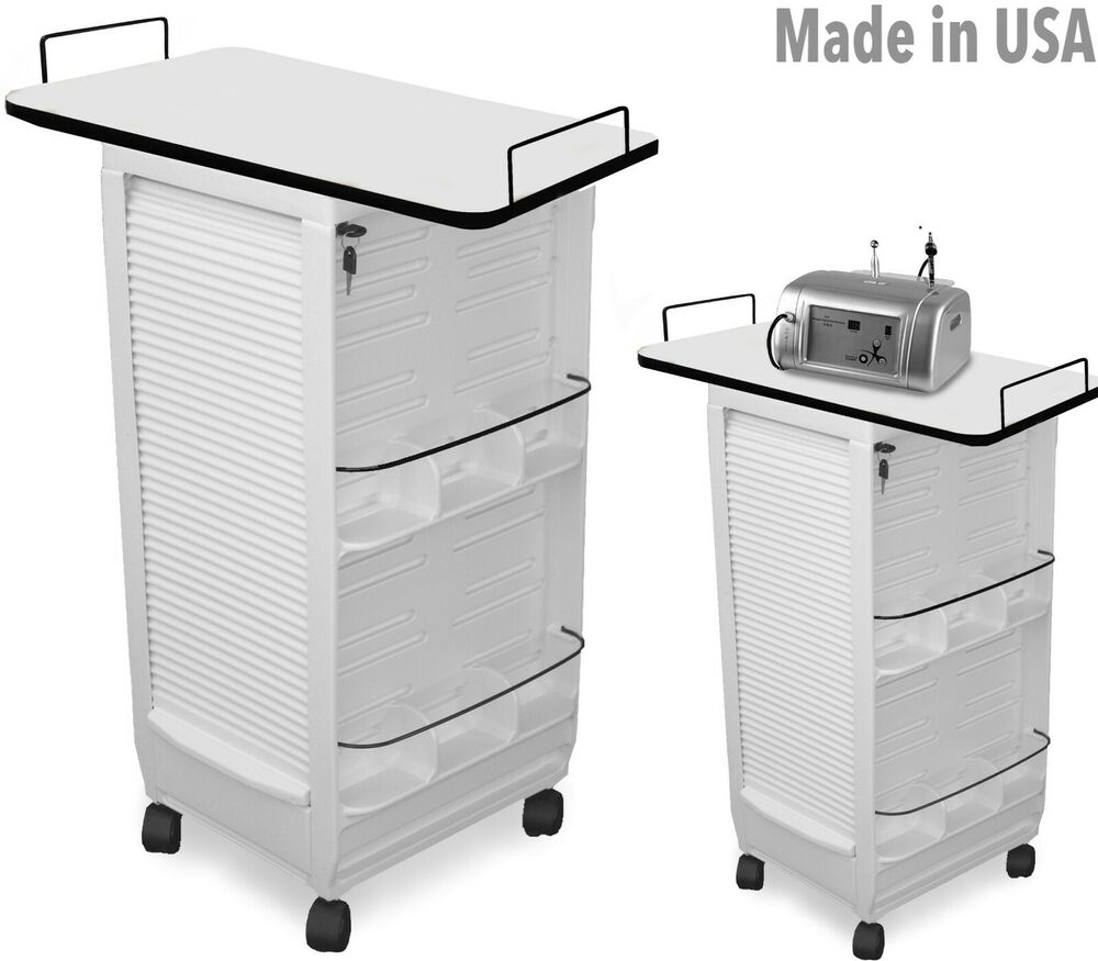 Professional Hair Steamer Rolling Stand Beauty Salon Color: Aesthetician Salon Spa Trolley Roll-about Cart Table N20E