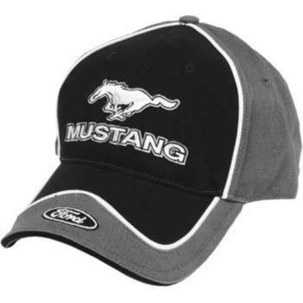 Ford Mustang Shoes >> Ford Mustang Licensed Cotton Brim Emblem Black & Gray Hat | eBay