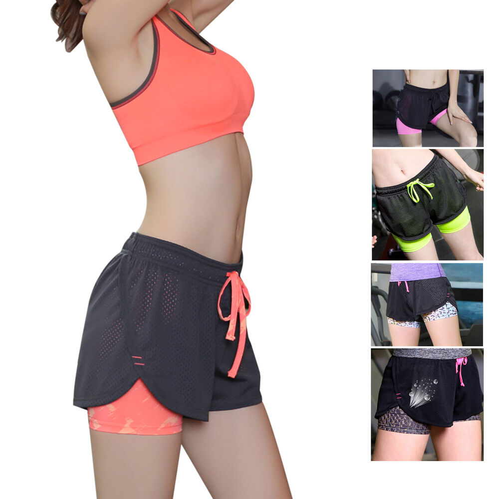 Ladies Women Quick Dry Breathable Running Sport Shorts