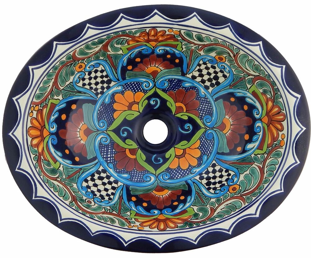 mexican bathroom sink mexican bathroom 17x14 quot drop in ceramic sink handmade 13640