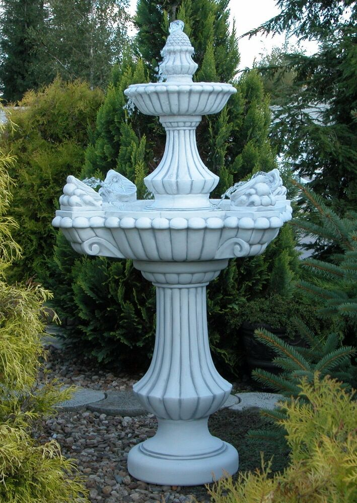 springbrunnen steinbrunnen brunnen lissabon mit pumpe gartenbrunnen blackform ebay. Black Bedroom Furniture Sets. Home Design Ideas