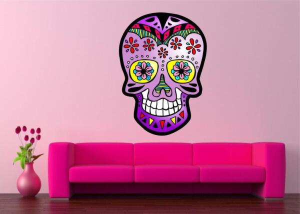 MEXICAN SUGAR SKULL TATTOO DESIGN CALAVERA WALL STICKER decal art vinyl 5 sizes