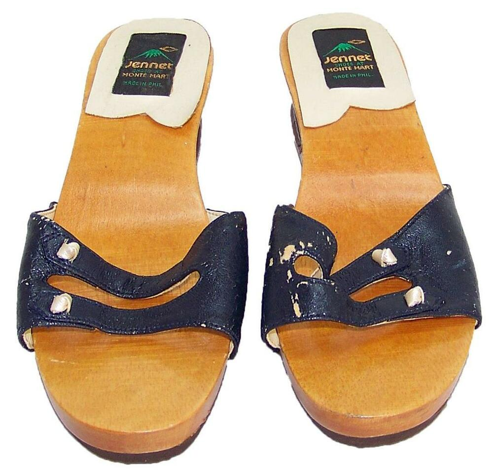 Jennet Made in Philippines Wood Carved Sandal/Shoe ...