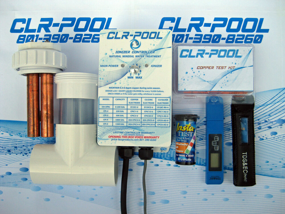 Cpi 3 pool ionizer 50k gal treat your pool w copper ionizers ebay for Copper electrodes for swimming pool