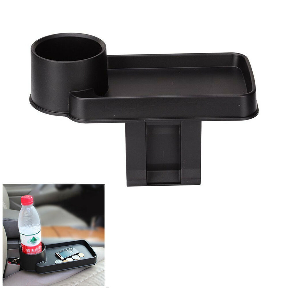 car accessories interior central storage box cup bracket drink holder organizer ebay. Black Bedroom Furniture Sets. Home Design Ideas