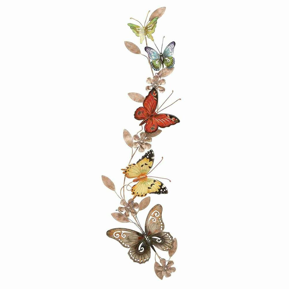 Woodland imports 13805 wall metal butterfly decor ebay for Outdoor butterfly decor