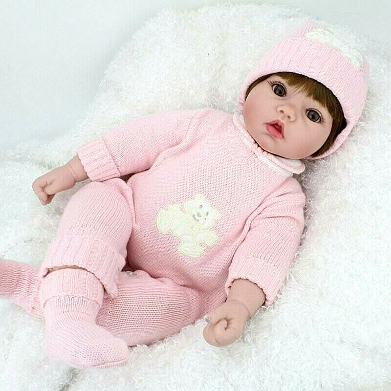 Toy Baby Doll : New lifelike newborn baby doll realistic girl