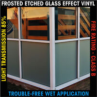 Frosted Etch Effect Privacy Window Film Vinyl Self Adhesive 1220mm x 500mm