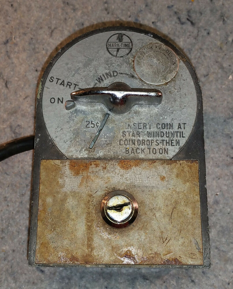 VINTAGE MARK-TIME COIN OPERATED TIMER. 25c & 10c.   eBay