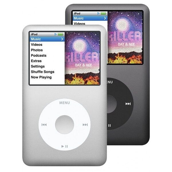 Apple Ipod Classic 7th Generation Black Or Silver 120gb Or