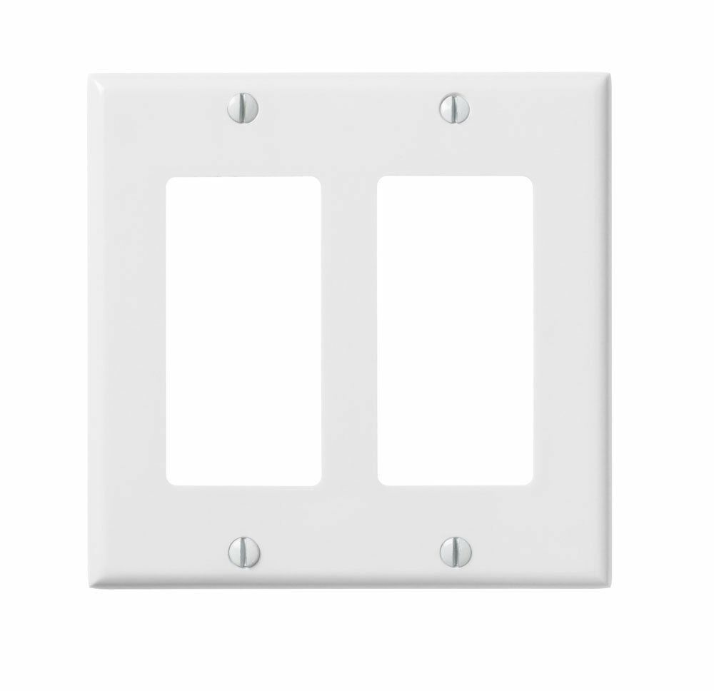 10 Pc New Decorator 2 Gang Wall Plate Cover White