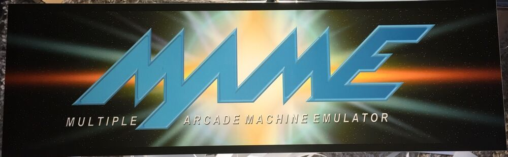 """Mame Cluster F Arcade Marquee 26/""""x8/"""""""
