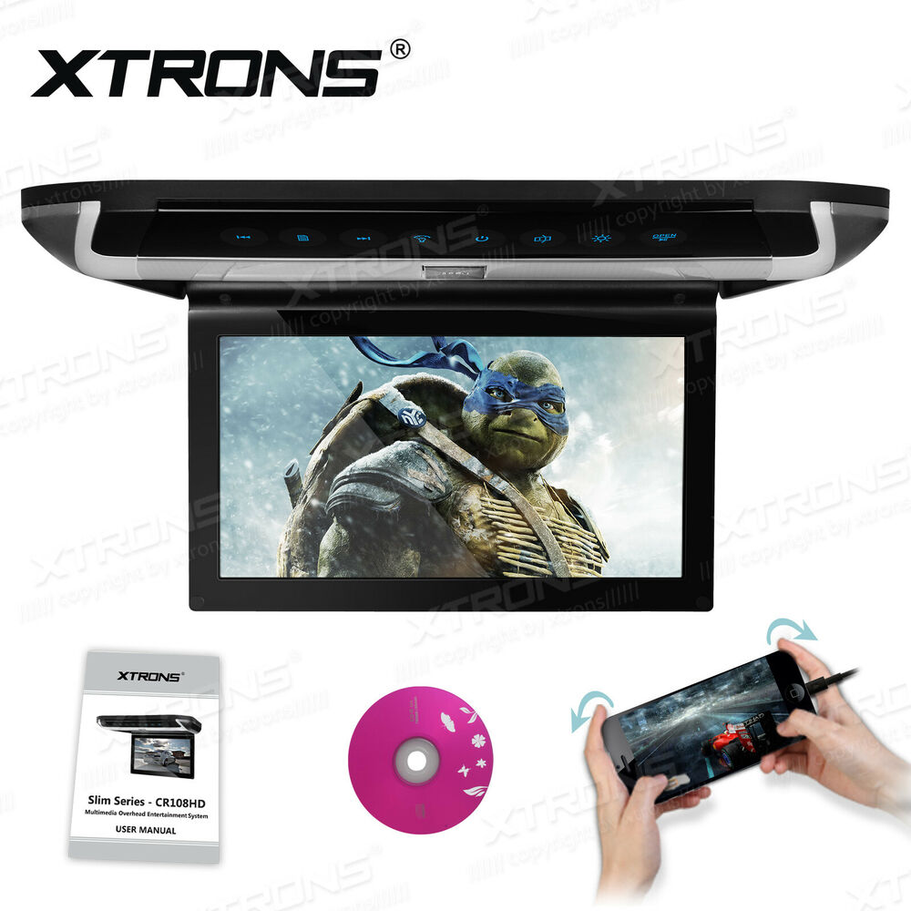 15 6 Quot Hd Car Roof Mounted Dvd Player Flip Down Monitor