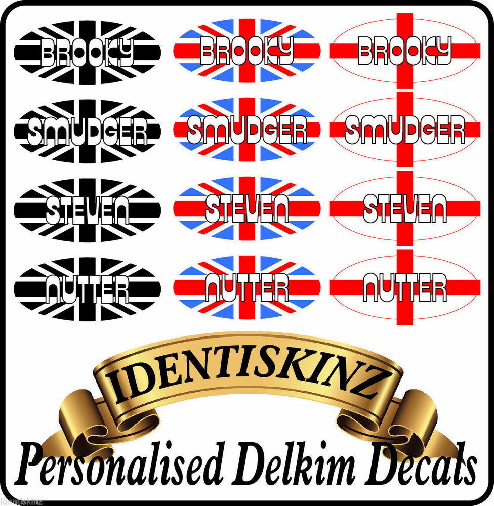 Delkim txi plus ev domed sticker decal personalised set of 5 flag style ebay