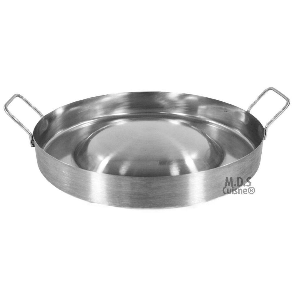 Stainless Steel Comal Convex 16 Quot Round Cook Griddle Taco