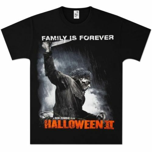 new halloween 2 family is forever rob zombie movie t shirt ebay. Black Bedroom Furniture Sets. Home Design Ideas