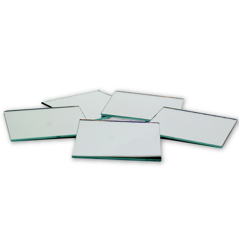 Small Mirror Pieces: 3 Inch Glass Craft Small Square Mirrors Bulk 50 Pieces