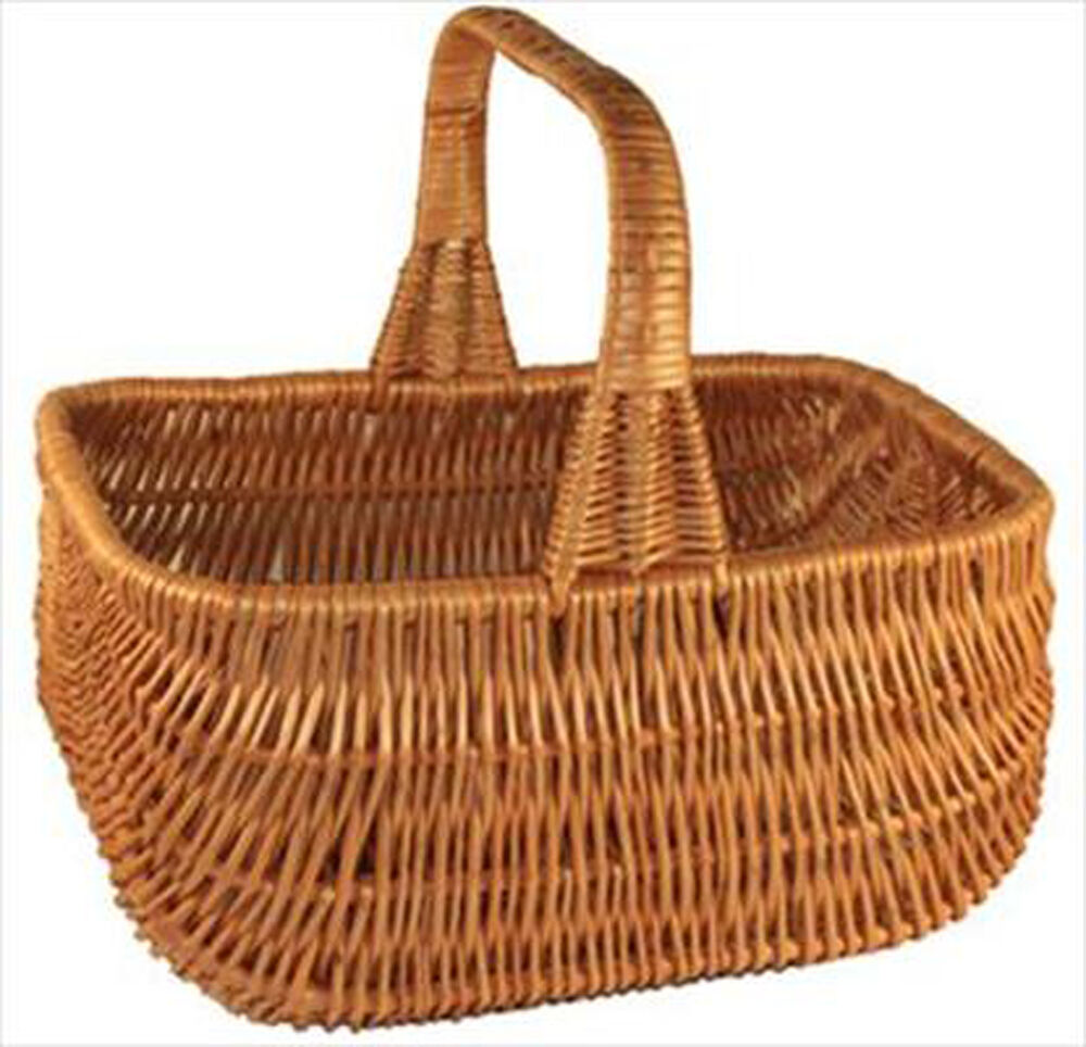 Tiny Wicker Basket With Handle : Traditional wicker cookery ping basket with fixed