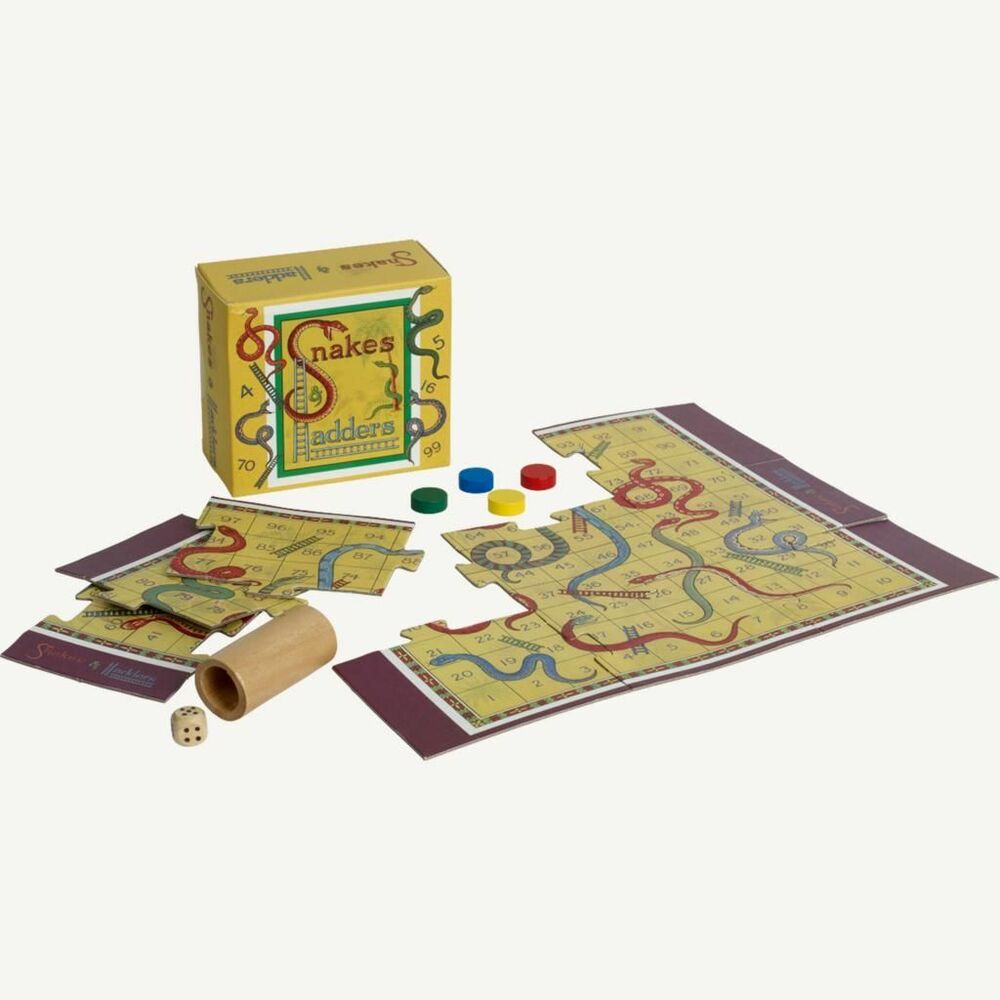 Vintage Toys And Games : Traditional retro toys mini vintage board games snakes