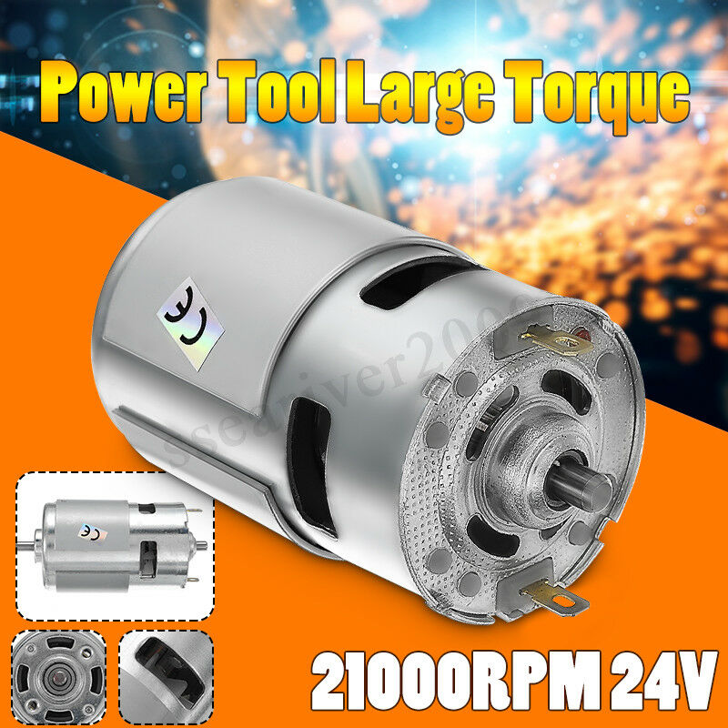 1pc dc 24v 21000rpm high speed large torque dc 775 motor for High torque high speed dc motor