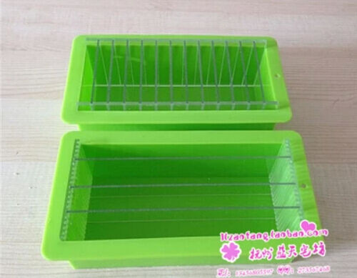 Thick Oblong With Acrylic Boards Silicone Soap Cake