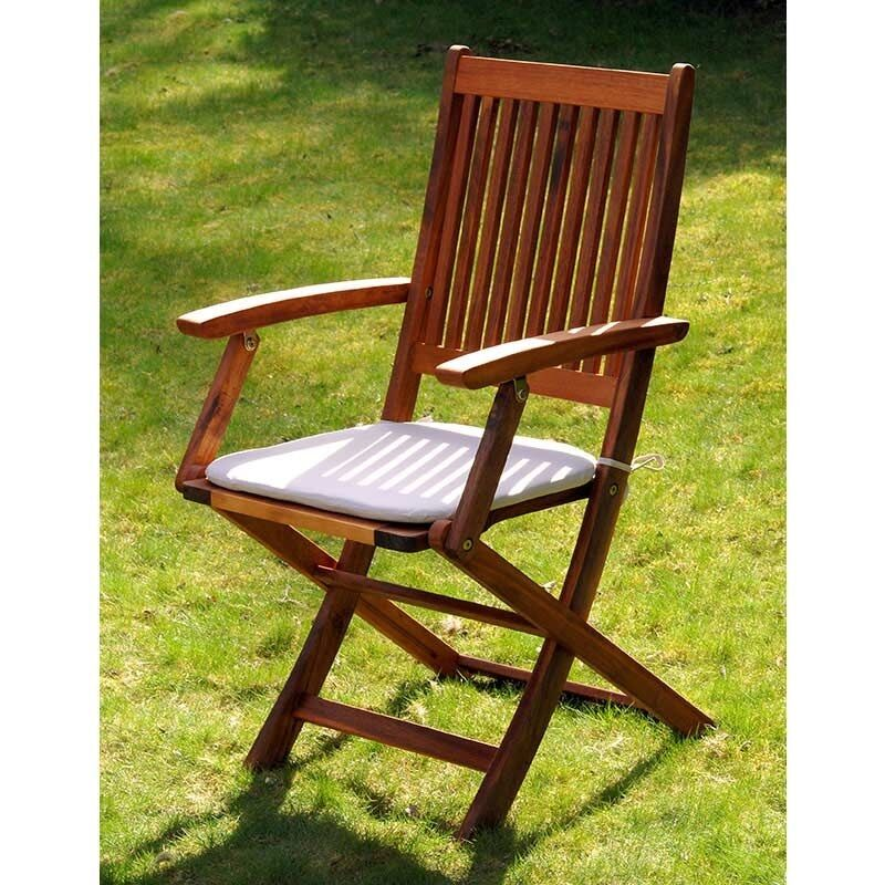 Wooden Garden Chair ~ Wooden folding chair hardwood armchair wood lawn garden