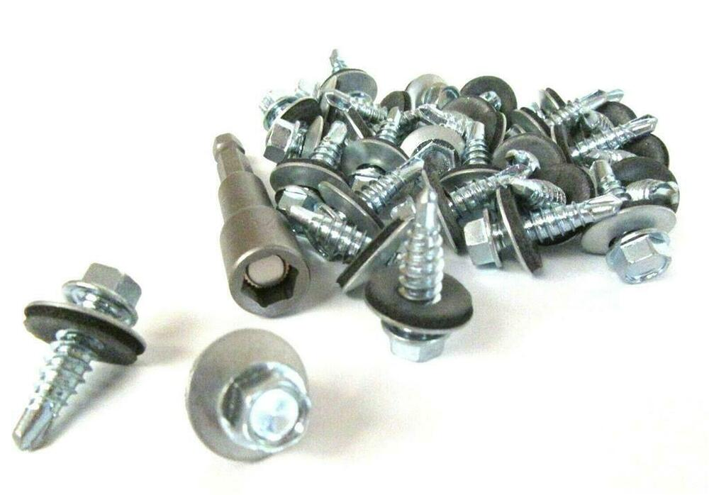 Pack Of 100 5 5 X 25mm Tech Screws For Roofing
