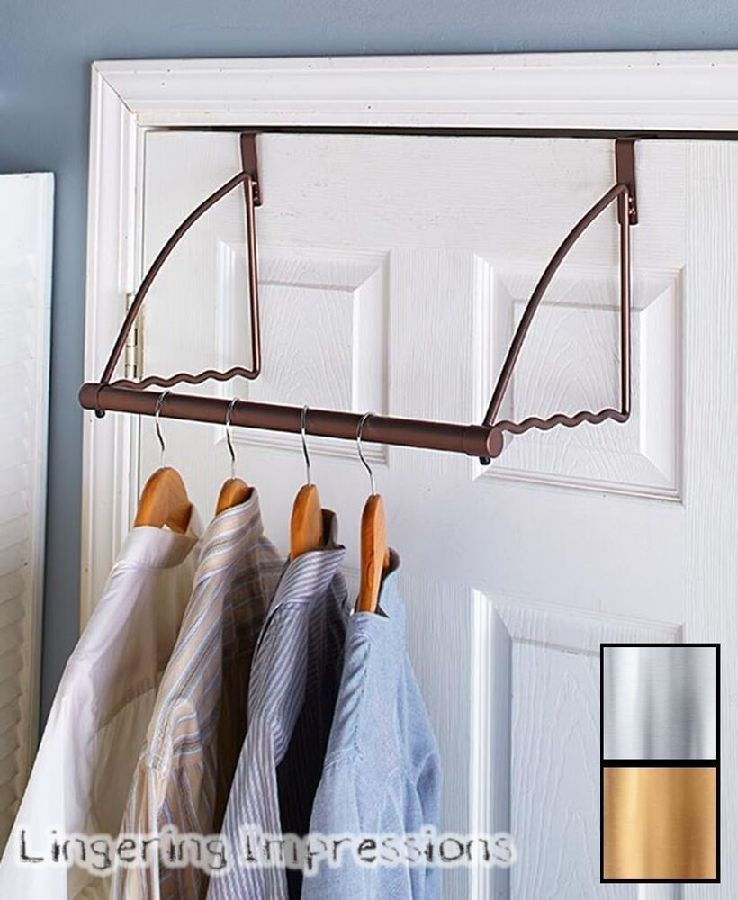 over the door closet rod organizer storage clothes shelf. Black Bedroom Furniture Sets. Home Design Ideas