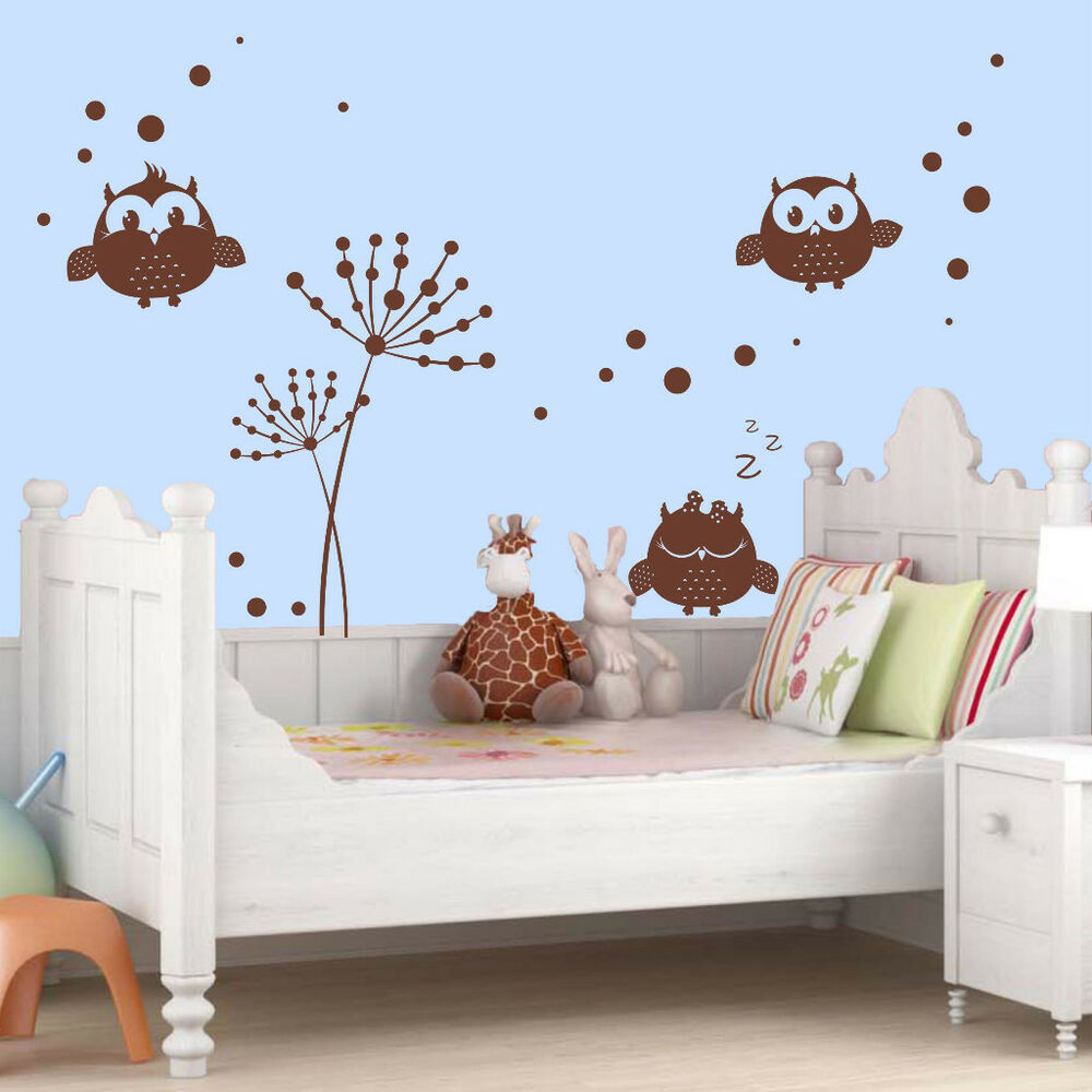 Details About Wall Tattoo Owl Rooms Uhu Kids Room Decoration Stickers