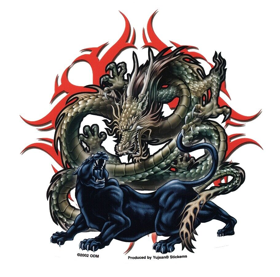 Awesome chinese dragon black panther asian yin yang - Images de dragons ...