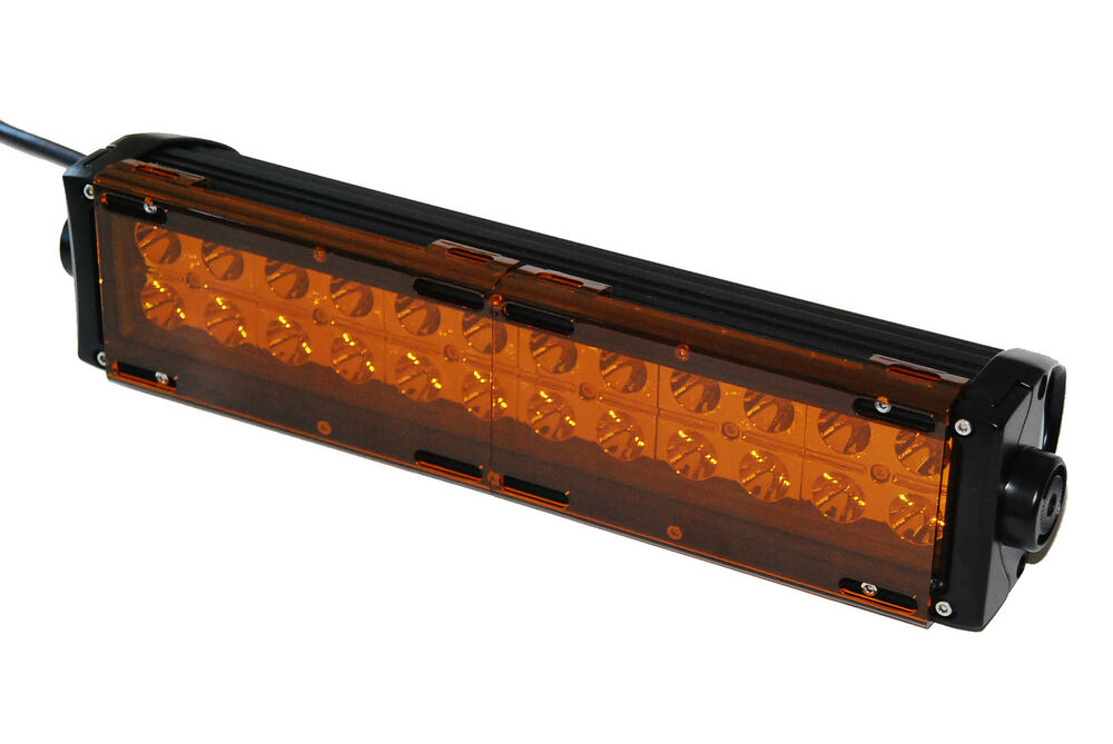 amber bar cover led light dual row 36w 72w 180w 288w 9 u0026quot  18
