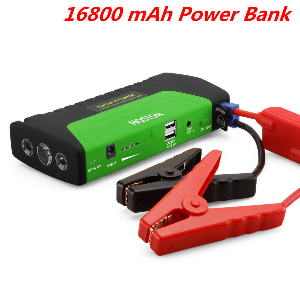 portable 16800mah power bank car jump starter booster emergency battery charger ebay. Black Bedroom Furniture Sets. Home Design Ideas