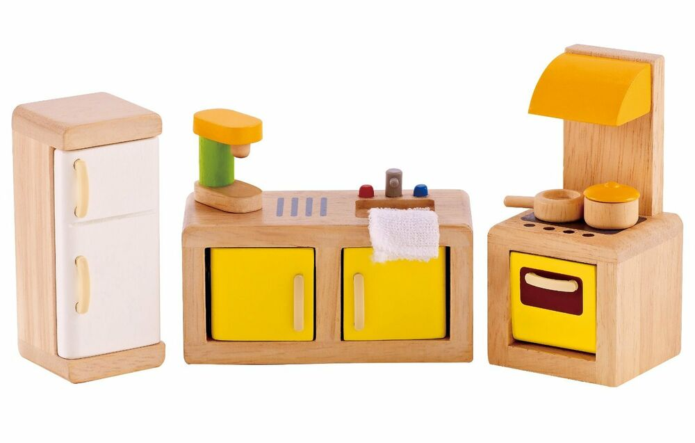 Wooden Furniture House Miniature Doll Dollhouse Scale Set