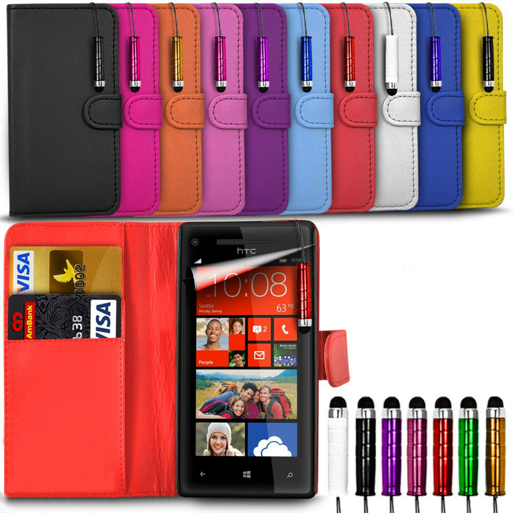 new styles 8fe4c d1c52 Alcatel One Touch Pop 4 5051X - Leather Wallet Card Slot Case Cover &Mini  Stylus | eBay