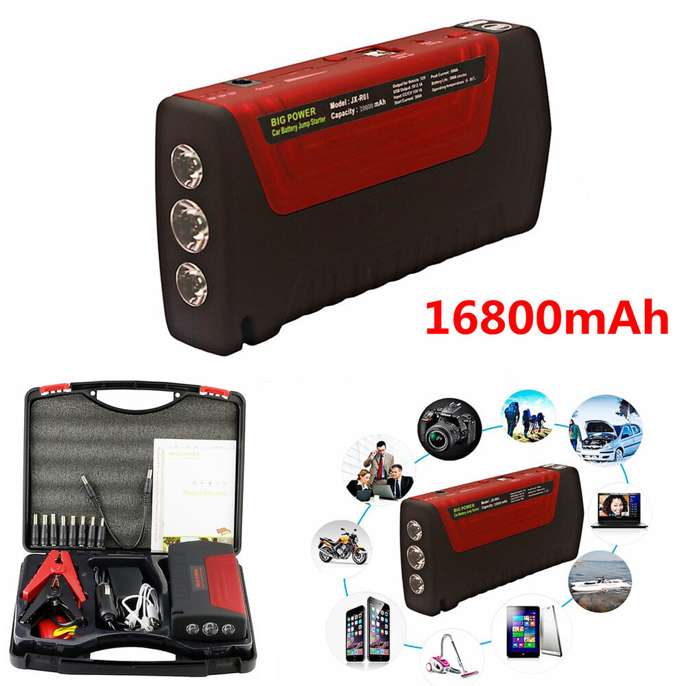 12v portable car battery jump starter 16800mah power bank. Black Bedroom Furniture Sets. Home Design Ideas